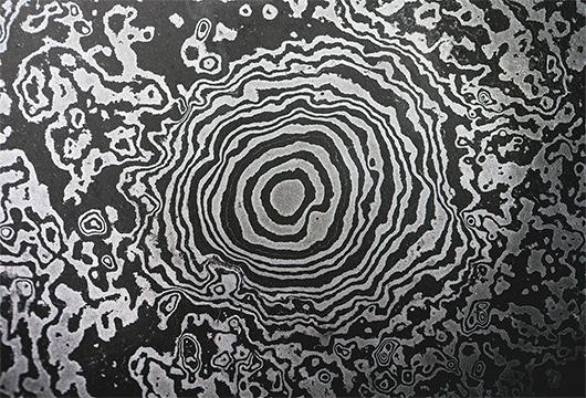 ロートアイアン手摺、階段手摺、アイアン手摺、門扉のオーダーメイド専門店Blacksmith erのダマスカス鋼の写真