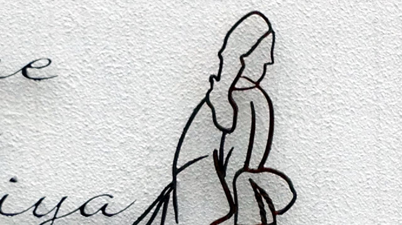 ロートアイアンサイン,和物,見返り美人,綺麗な,おしゃれな,看板