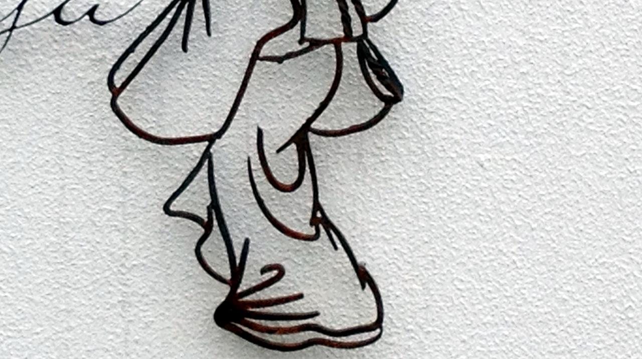 火造りのサイン,和物見返り美人,着物,オリエンタル,看板