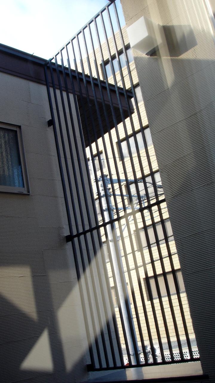 ロートアイアン防犯用フェンス,内側,こだわりの総火作り,愛媛県