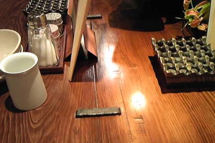 テーブル飾り,かすがい,割れ止め,ロートアイアン,オーダーメイド,金物