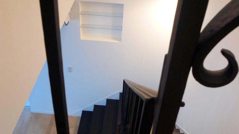 ロートアイアン,階段手すり,笠木部分,アールヌーボ,階段手摺り,てすり