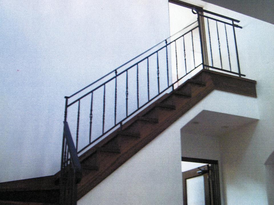 ロートアイアン階段手すり,手摺り,てすり,アイアン,シンプル,福岡県