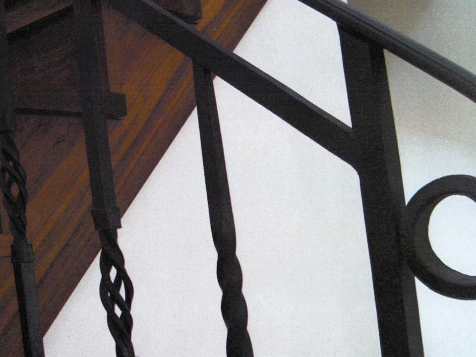 ロートアイアン階段手すり,笠木端部,ロートアイアン階段手すり,手摺り,てすり,アイアン,シンプル,福岡県