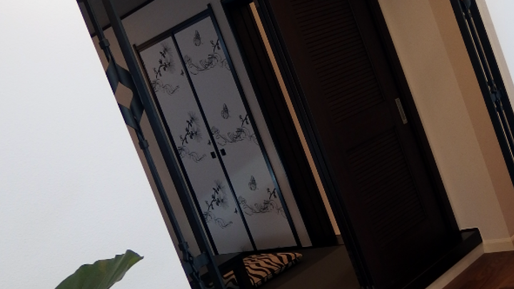 ロートアイアンアーチ飾り、三井ホームモデルハウス1階