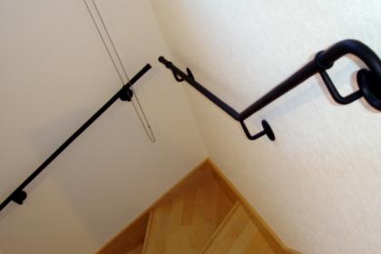 ロートアイアン手摺,壁付けのシンプル3本セット,ロートアイアン,手摺り,手すり,手摺,壁取り付け