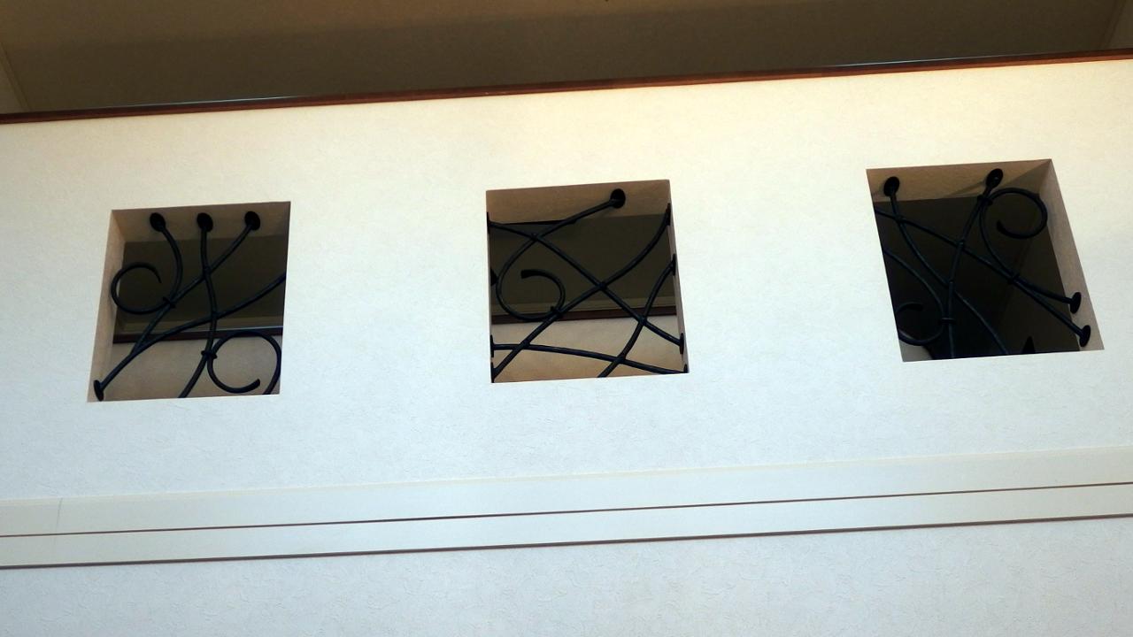 ロートアイアングリル,三井ホーム,リビングから,ロートアイアン,グリル,廊下,愛媛県,三井ホーム,エレガントティー