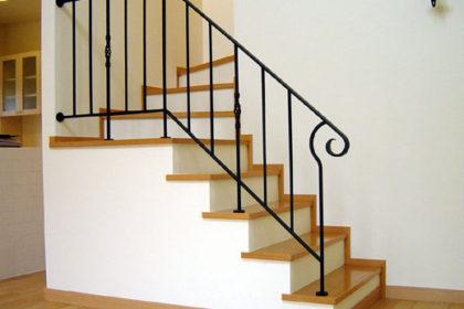 ロートアイアン階段手すり、階段手摺,三井ホーム