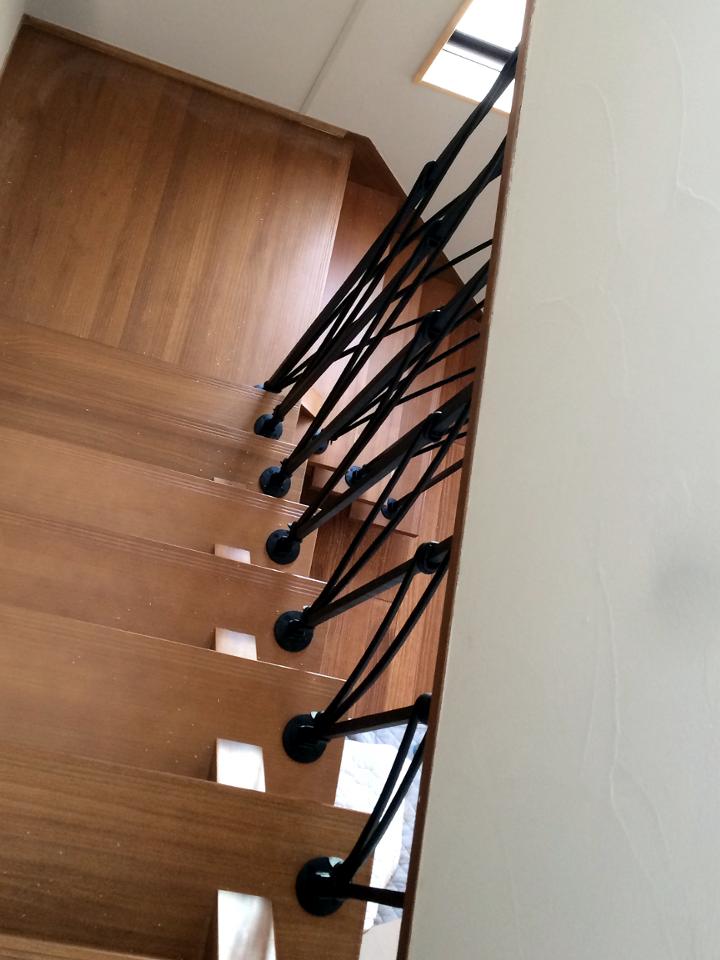 ロートアイアン階段手摺,パネル