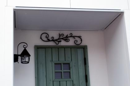 ロートアイアン,デコ,アイアン飾り,玄関