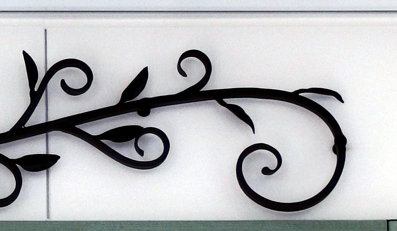 玄関,ロートアイアン,詳細,唐草,おしゃれなアイアン飾り