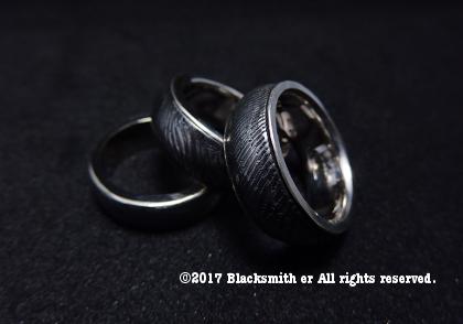 ダマスカス鋼のリング1