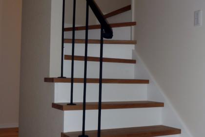 ロートアイアン階段手すり